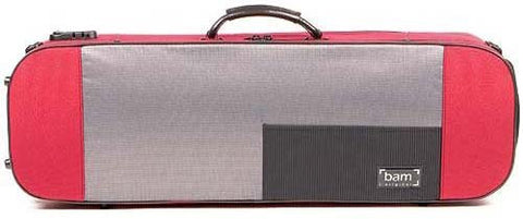 The Bam Stylus 4/4 Violin Case In Red - Front View