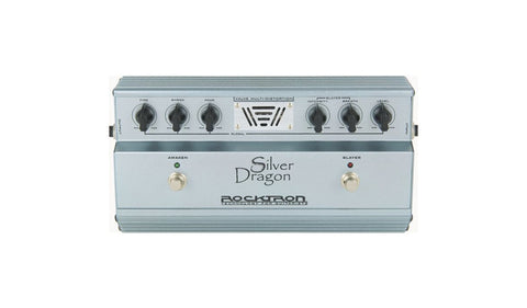 Rocktron Silver Dragon Tube Distortion Pedal - Front
