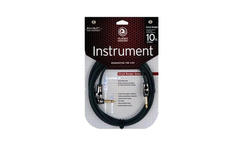 "Planet Waves 10' Circuit Breaker Series 1/4"" Cable - Right Angle Plig"