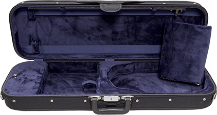 Bobelock 1002 Wooden Oblong Violin Case with Blue Velour Interior