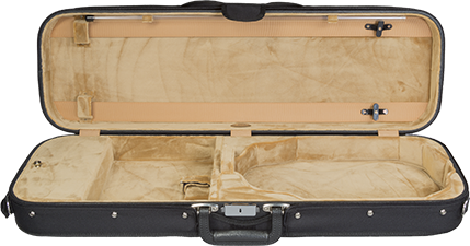 Bobelock 1002 Wooden Oblong Violin Case with Tan Velour Interior