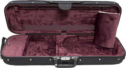 Bobelock 1002 Wooden Oblong Violin Case with Red Velour Interior
