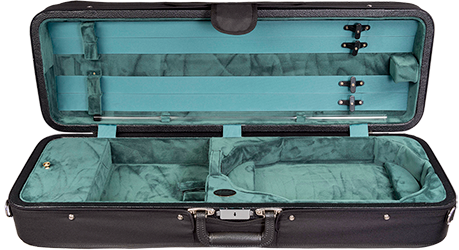 Bobelock 1003 Featherlite Oblong Suspension Violin Case with Green Velour Interior