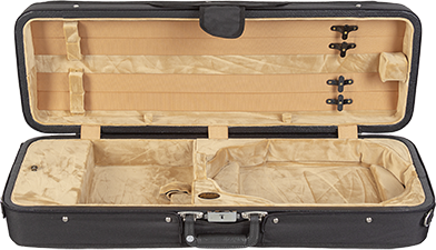 Bobelock 1003 Featherlite Oblong Suspension Violin Case with Tan Velour Interior