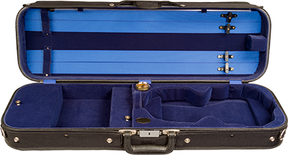 Bobelock 14002 Student Economy Oblong Suspension Case with Blue Velvet Interior