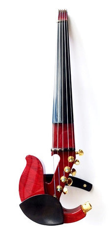 Custom - Jordan 5-String Electric Violin w/ StringAmp & Red Transparent Flamed Maple Body