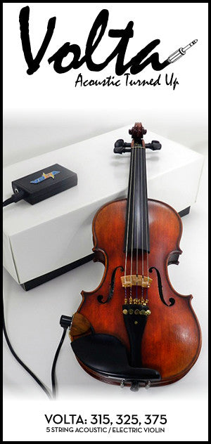 Volta 300 Series Acoustic Electric Violin - 5 String