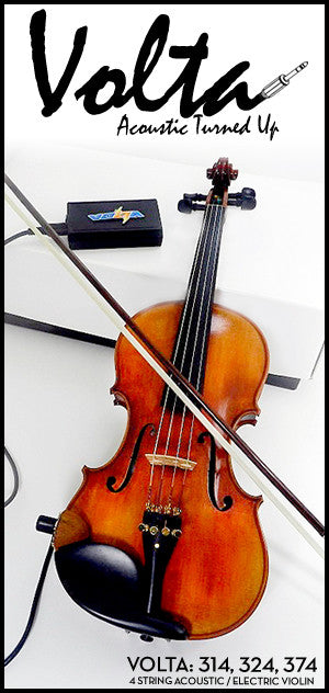 Volta 300 Series Acoustic Electric Violin - 4 String