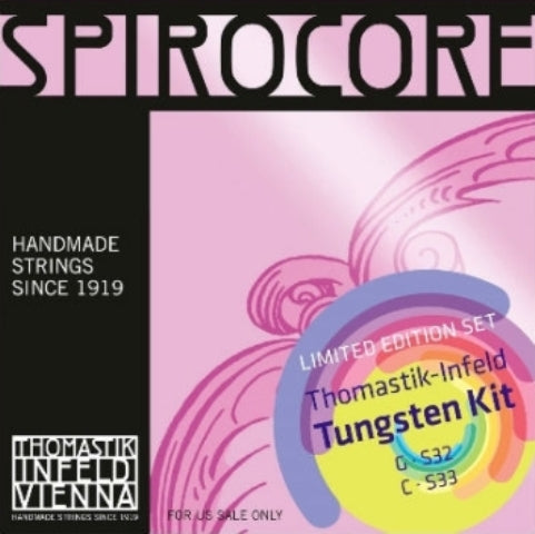Thomastik Infeld Spirocore Tungsten Cello Strings  G & C Combo