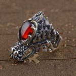 Bague Argent Dragon Hindou | L'Antre du Dragon