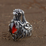 Bague Dragon Hindou Argent | L'Antre du Dragon