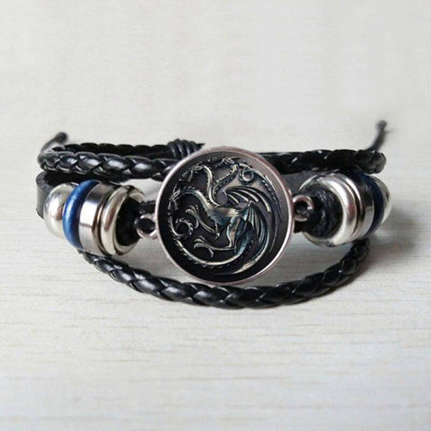 Bracelet Dragon Triple Têtes | L'Antre du Dragon