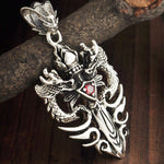 Collier Dragon Grenat | L'Antre du Dragon
