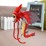 Peluche Dragon Géant Rouge