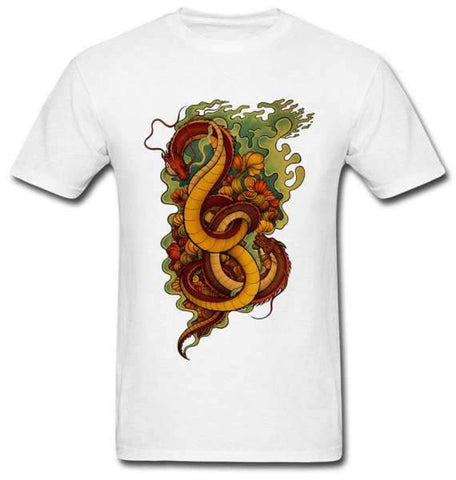 T-Shirt Dragon Fleurs | L'Antre du Dragon