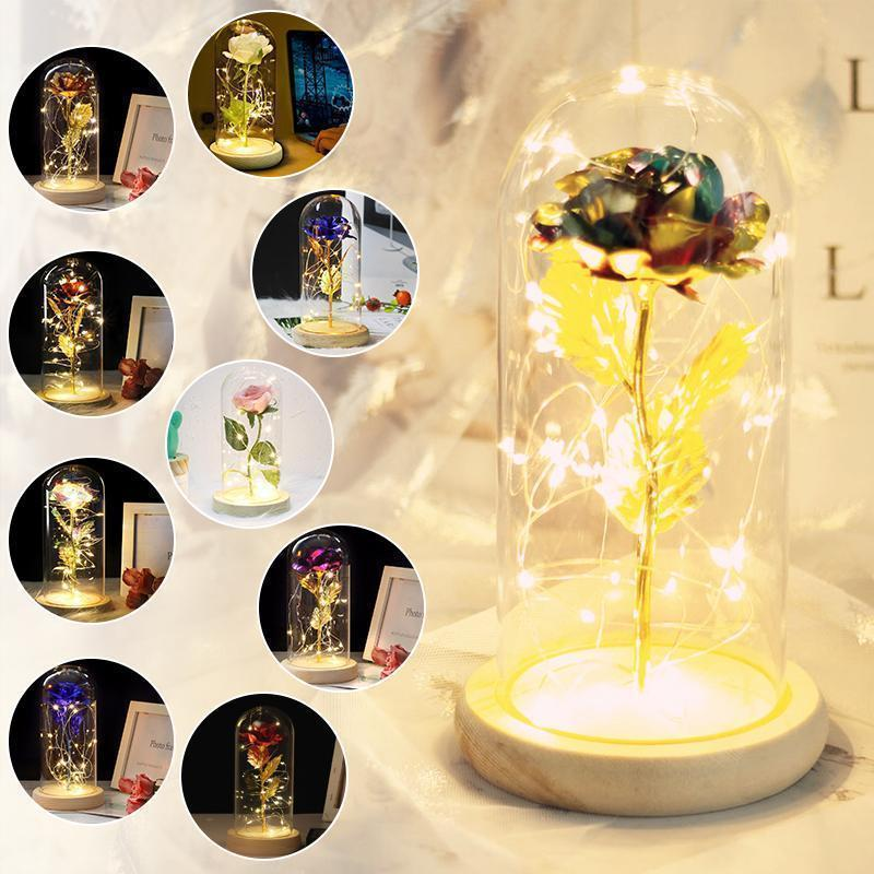 Beauty & the Beast Rose Lamp