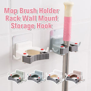 Mop Brush Holder Rack Wall Mount Storage Hook