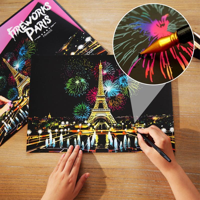 City Night Scratch Painting Kit