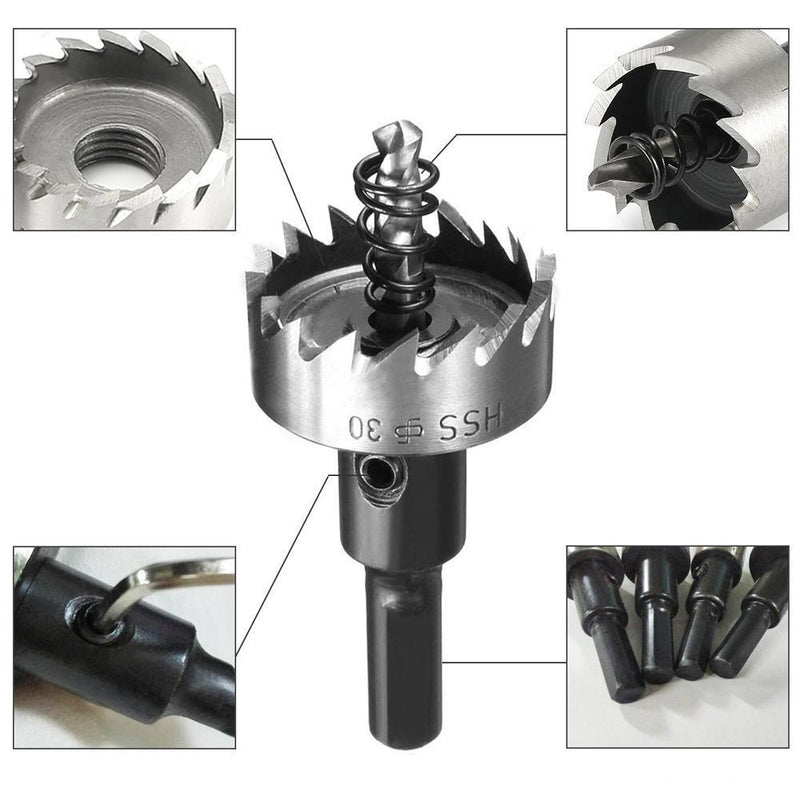 Domom 16-30MM HSS Drill Bit Hole Saw Set