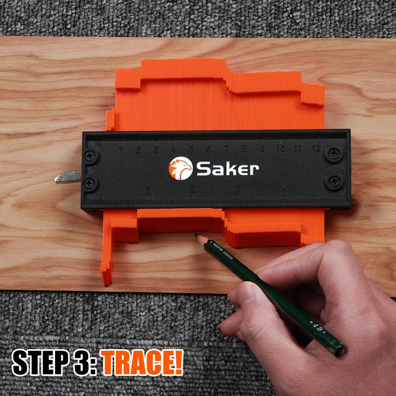 Pre-Sales>>Saker® Contour Gauge Profile Tool -Precisely Copy Irregular Shape Duplicator
