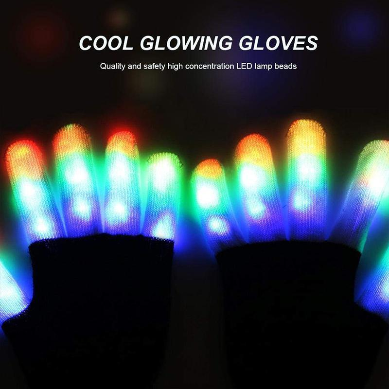 Glowing Gloves 3 colours 6 modes