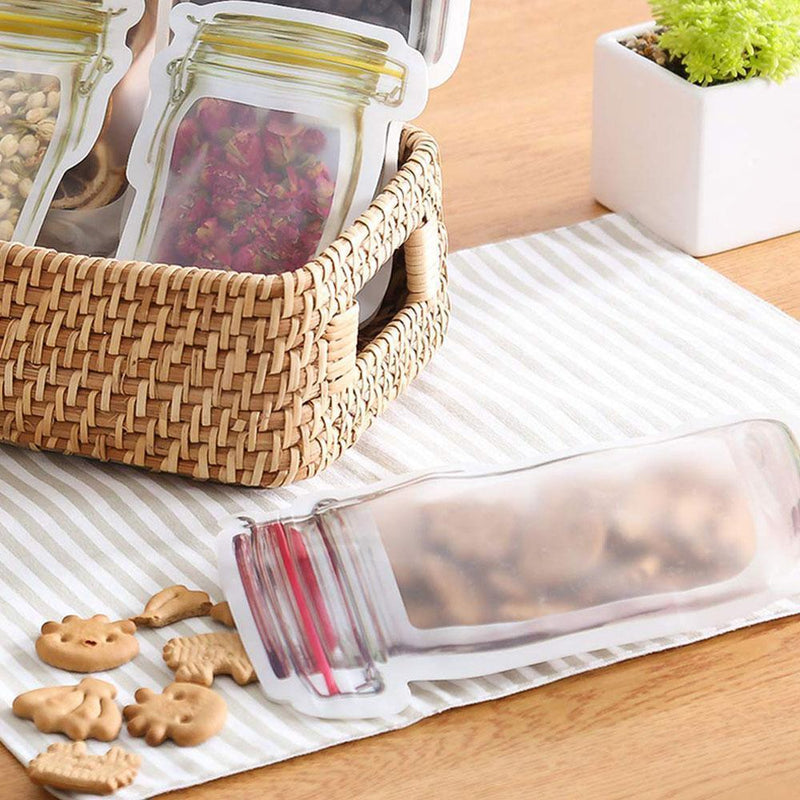 Jar Zipper Bags, set of 5
