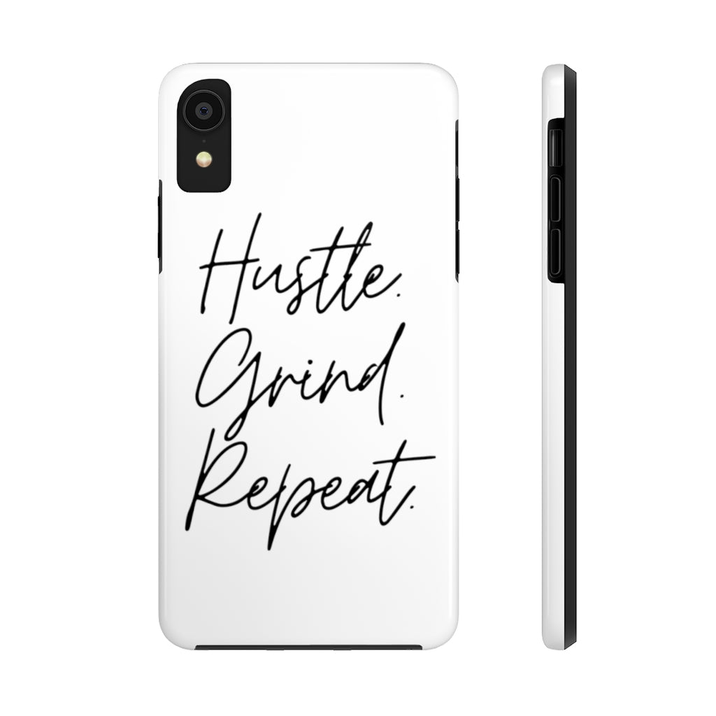 Kan't Knock the Hustle Case Mate Tough Phone Case - White