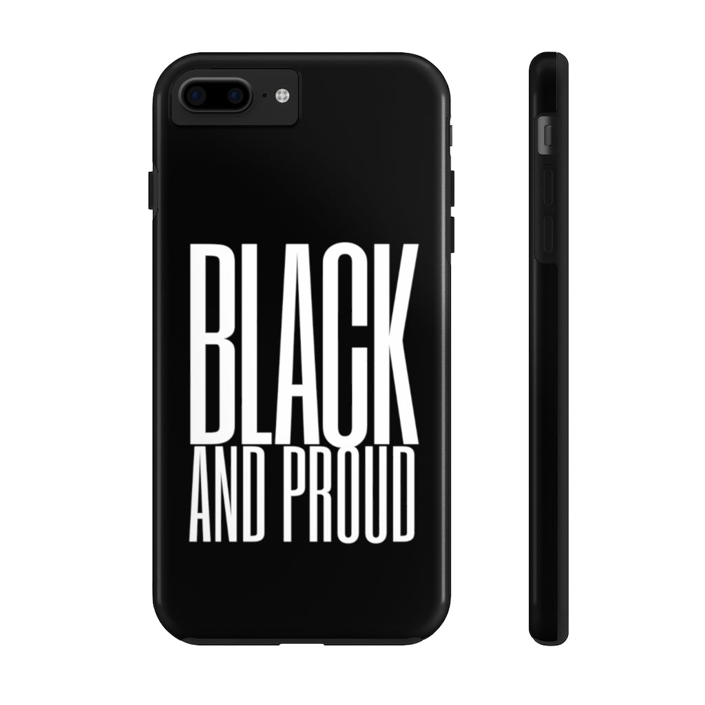 Black And Proud Case Mate Tough Phone Case - White