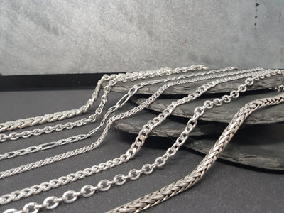 Different Types of Silver Chains.