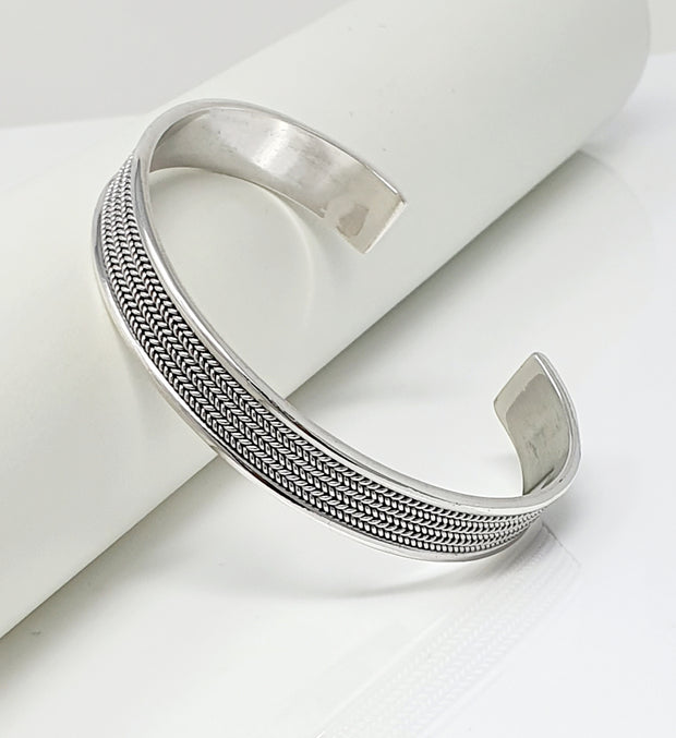 braided bangle for men