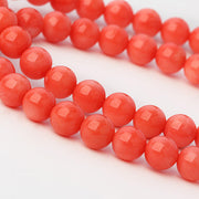 7mm Pink Coral Necklace Bracelet Set