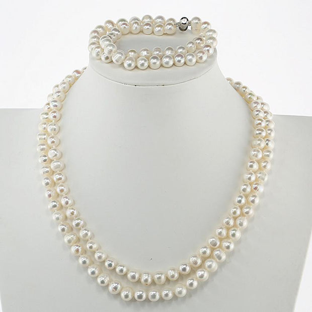 women pearl necklace set