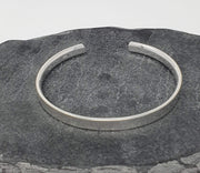 men's solic silver bangle