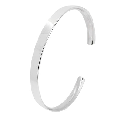 classic silver bangle for men