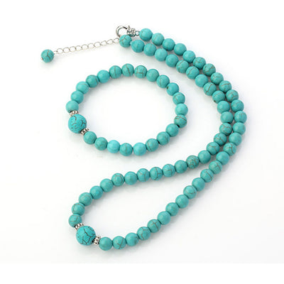 blue turquoise necklace set