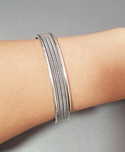 classic silver bangle for women men