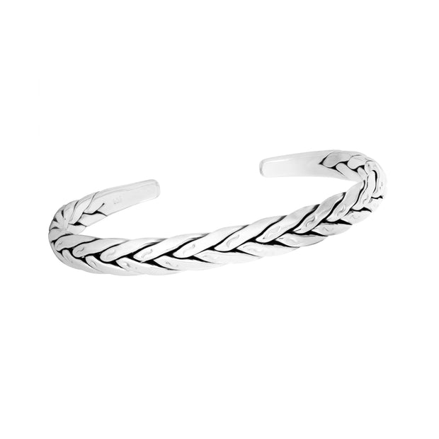 Men's Sterling Silver Bangle Bracelet