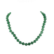 green gemstone necklace for women