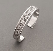 classic celtic silver bangle for men