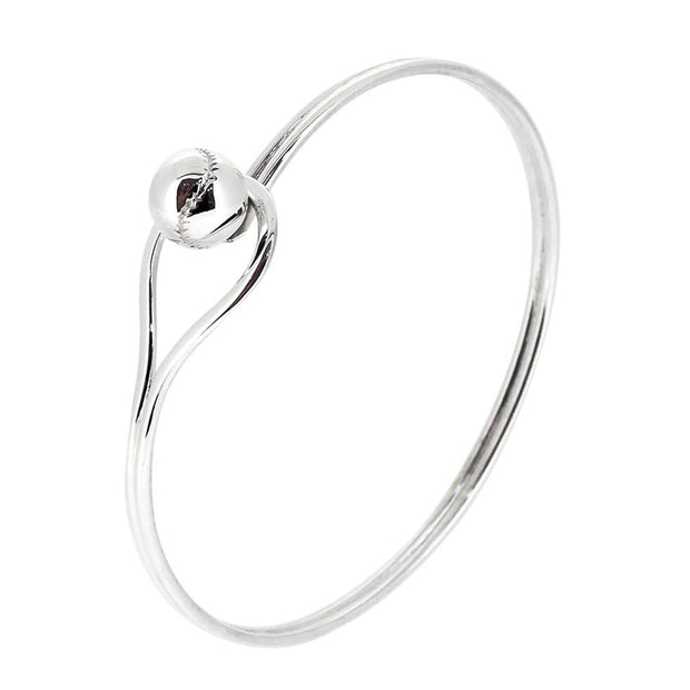 Sterling Silver Winding Loop Bangle