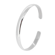 women's classic plain silver bangle