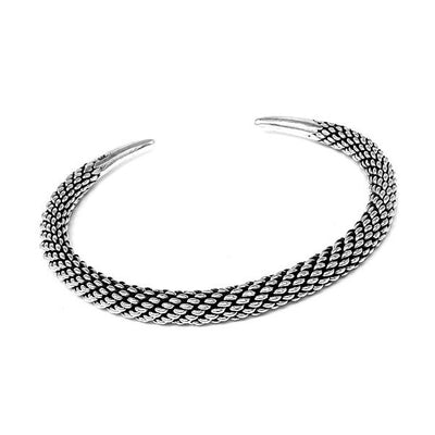 heavy silver chain bangle