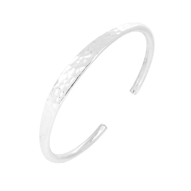 Silver Hammered bangle for women