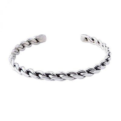 Sterling Silver Classic Braid Bangle