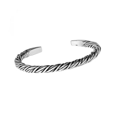 twist sterling silver bangle
