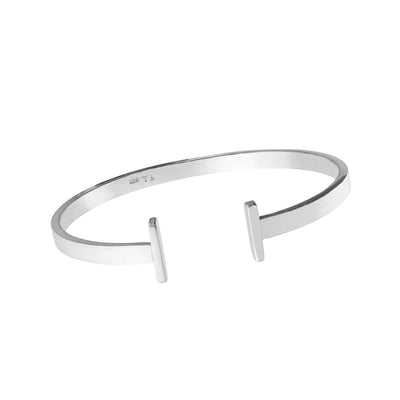Timeless T-bar Sterling Silver Bangle