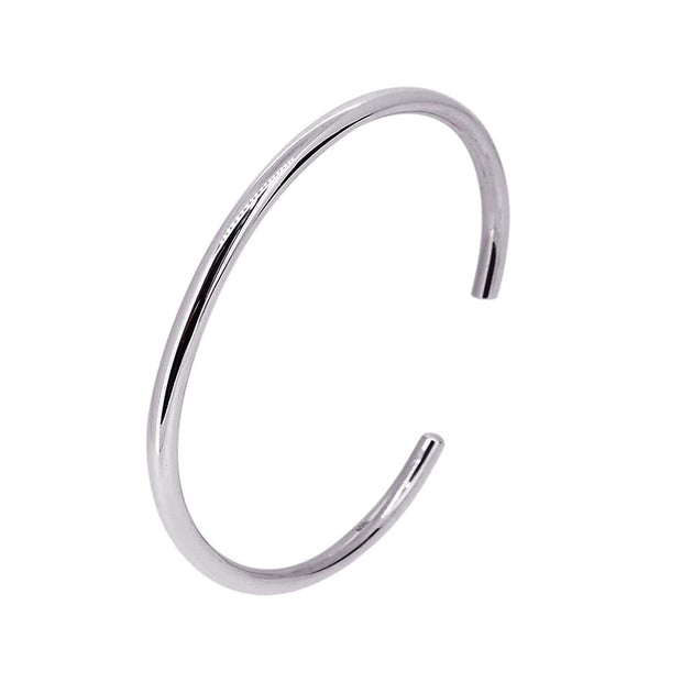 Simple Torque Bangle with Tapered Ends