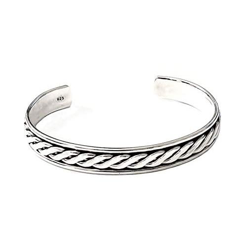 men's solid silver bangle