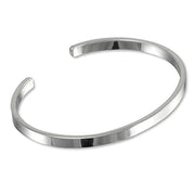 solid classic silver bangle for men