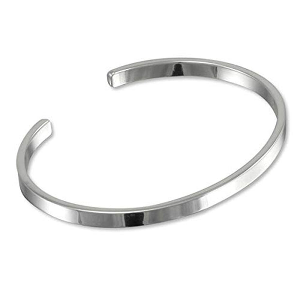 Solid Silver  Bar Cuff Bangle for Men